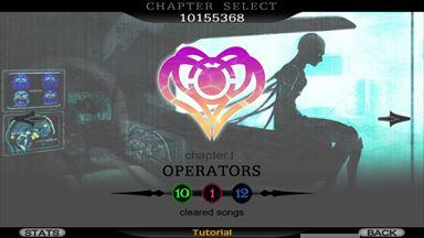 Cytus チャプター選択画面