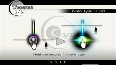 Cytus チュートリアル画面3