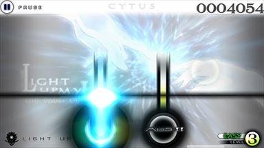 Cytus プレイ画面