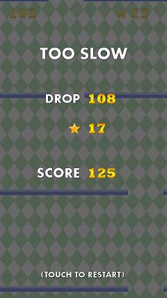 Drop ドロップ ゲームオーバー画面