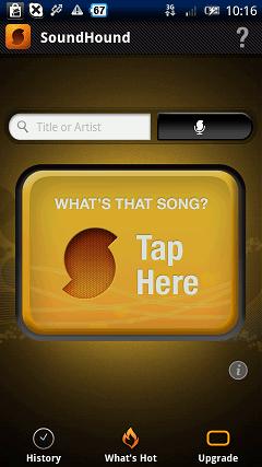 音楽・オーディオ系Android無料アプリケーション:SoundHound