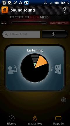 SoundHound Listening画面