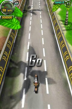 3Dバイク プレイ開始画面