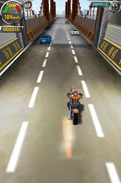 3Dバイク プレイ画面