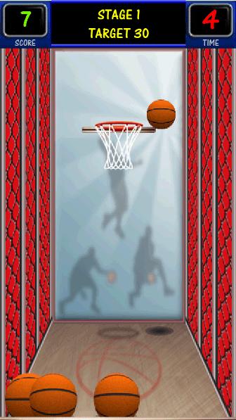 バスケシュート プレイ中画面