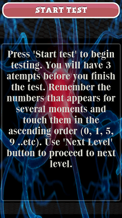Mental Age Test Free テスト説明画面