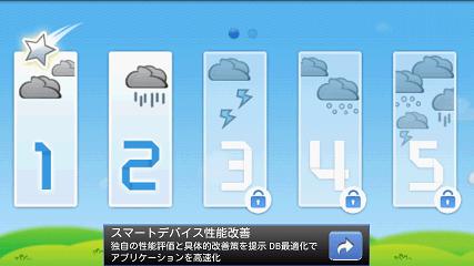Cloudy カテゴリー選択画面