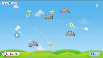 Cloudy 難しいステージの画面