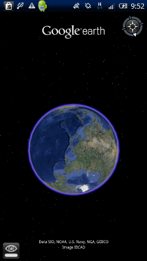 Google Earth 起動画面