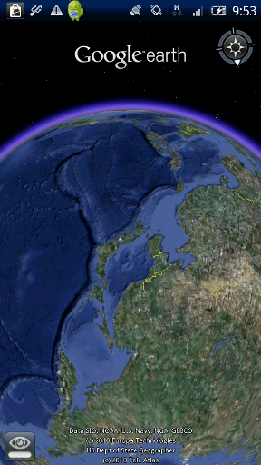 Google Earth 移動中画面