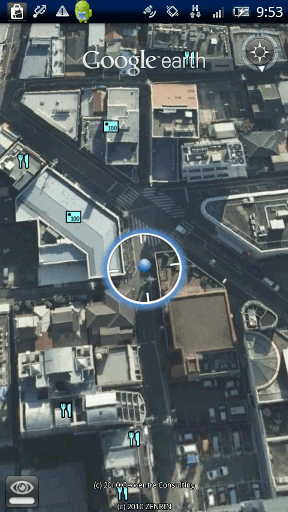 Google Earth 拡大画面