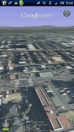 Google Earth 見回すON画面
