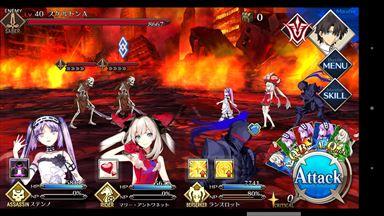 Fate/Grand Order バトル画面