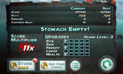 Jaws Revenge ゲームオーバー画面