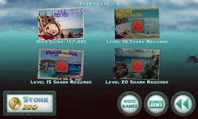 Jaws Revenge ステージ選択画面