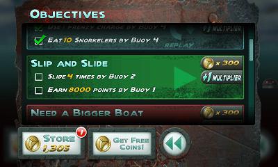 Jaws Revenge オブジェクティブ画面