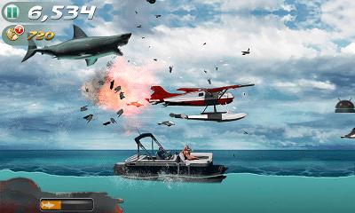 Jaws Revenge ジャンプ画面