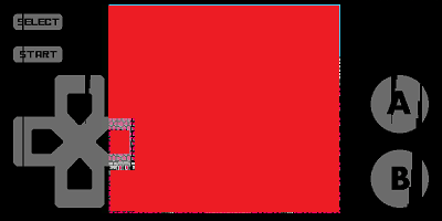 John NES Lite (NES/FCエミュレータ) プレイ画面横向き
