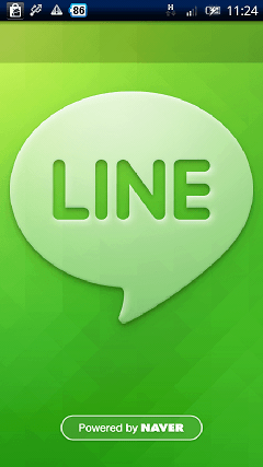 LINE 起動画面