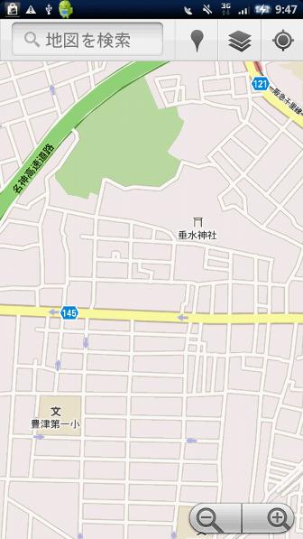 地図系Android無料アプリケーション:モバイルGoogleマップ