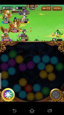 マゼラニカ クロニクル ~『まぜて』×『つなげる』RPG~ ゲームメイン画面3