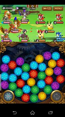 マゼラニカ クロニクル ~『まぜて』×『つなげる』RPG~ ゲームメイン画面