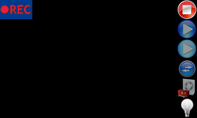 ウバ 無音 ビデオカメラ Free (ウィジェット機能有り) 録画画面