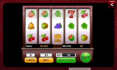 テキサスポーカーキングオンライン フィーリングラッキー画面