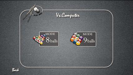 Pool Master Pro ビリヤード Vs. Computer画面