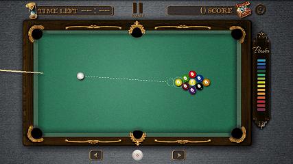 Pool Master Pro ビリヤード パワーゲージ画面