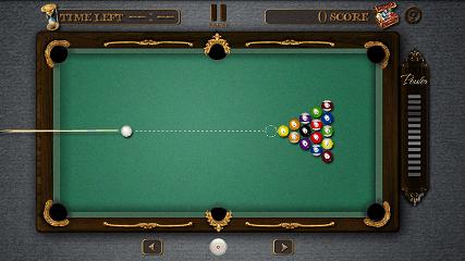 Pool Master Pro ビリヤード 8ボールブレイクショット画面