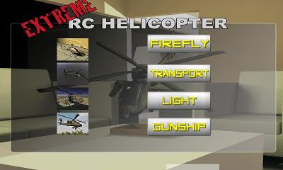 RCヘリコプターエクストリーム ヘリコプター選択画面
