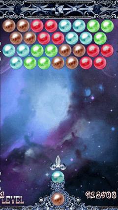 バブルシューター Shoot Bubble Deluxe PUZZLE画面
