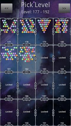 バブルシューター Shoot Bubble Deluxe PUZZLE Pick Level画面