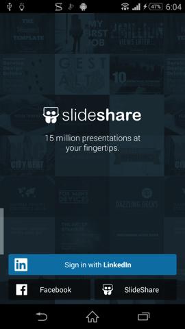 書籍・文献系Android無料アプリケーション:LinkedIn SlideShare