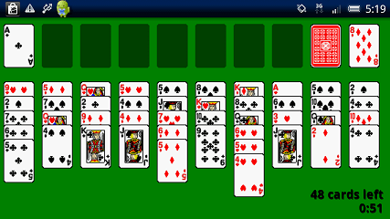 Solitaire(ソリティア) Forty Thieves画面