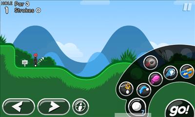 Super Stickman Golf 2 特殊効果選択画面