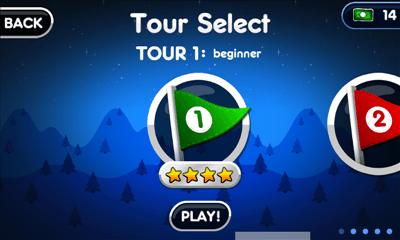Super Stickman Golf 2 ツアー選択画面