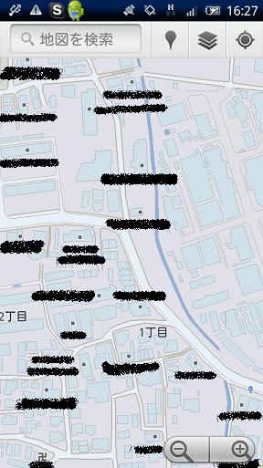 Googleマップのストリートビュー 地図画面