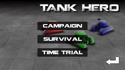 Tank Hero プレイモード選択画面