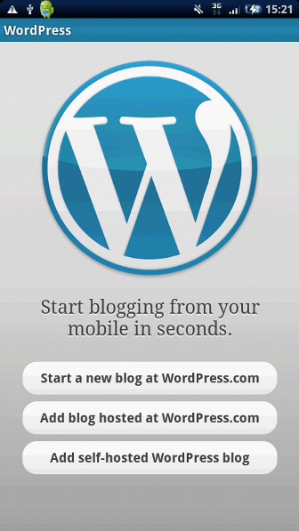 WordPress ブログ追加画面